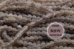 Kamienie Agat szary 5061kp  4mm 1sznur