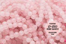 Kamienie Kwarc różowy 2492kp 8mm 1sznur