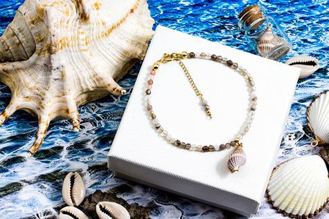 Carribean Style klasyczna bransoletka z muszlą 02bcs