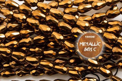 Kamienie Hematyt 5952kp 5x8mm 4sztuki