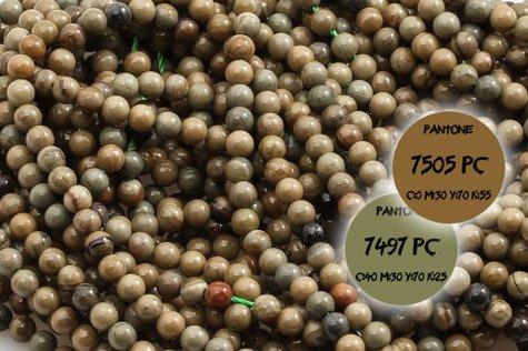 Kamienie Jaspis liściasty 5366kp 3mm 1sznur