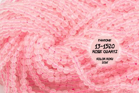 Kamienie Kwarc różowy 4634kp 2mm 1sznur