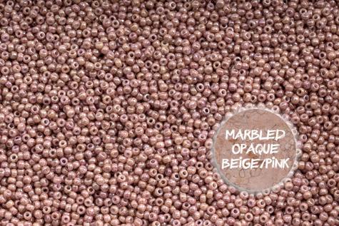 TOHO TR-11-1201 Marbled Opq Beige/Pink 10g